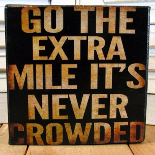 CupOfGood - Go the extra mile it's never crowde